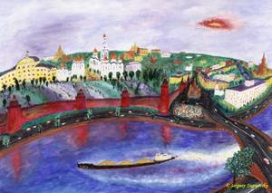 Sergey Zagraevsky The Moskva-river near Kremlin