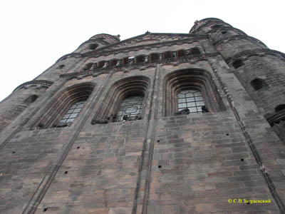 Cathedral in Worms. The eastern facade.