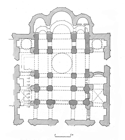 Assumption Cathedral. The plan of the existing building.
