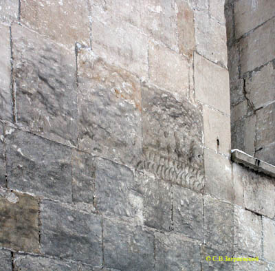 Fragment of the upset decoration on the walls of Vsevolod�s galleries.