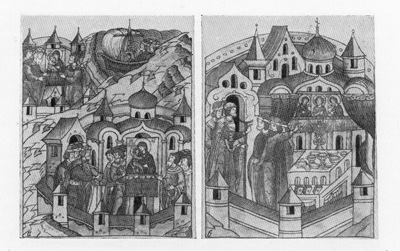 Assumption Cathedral. Miniatures of �Litsevoj� Chronicle of XVI century.