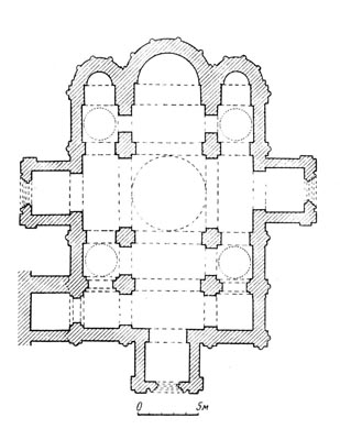 Assumption Cathedral of 1158-1160. Reconstruction by the author. Plan.